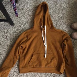 Forever 21 Cropped Mustard Sweatshirt